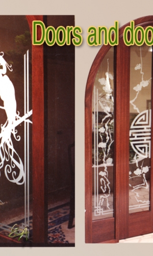 Gillespie Glass Art Oriental doors