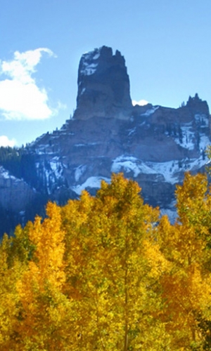 Chimney Rock, Courthouse Range, San Juan Mountains, Colorado