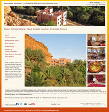 Boutique hotel in Morocco Lovely WP site with multiple slideshows