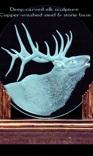 Gillespie Glass Art Elk Sculpture