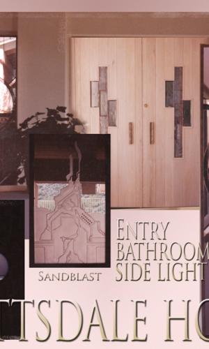 Gillespie Glass Art Scottsdale house