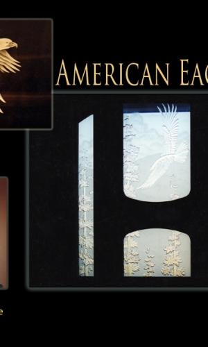Gillespie Glass Art Amerian Eagle
