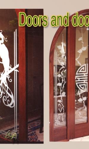 Gillespie Glass Art Oriental doors