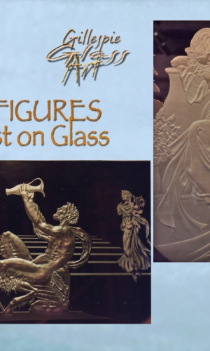 Gillespie Glass Art Grecian figures