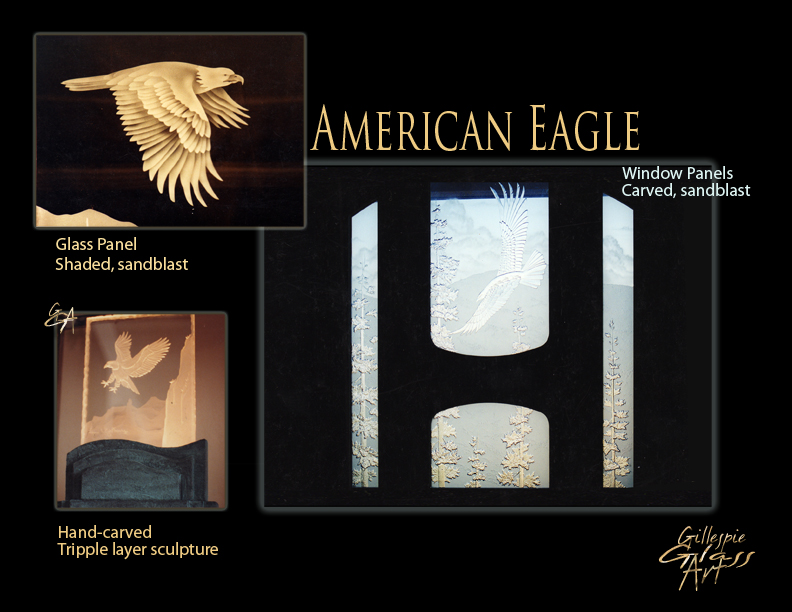 Gillespie Glass Art Amerian Eagle