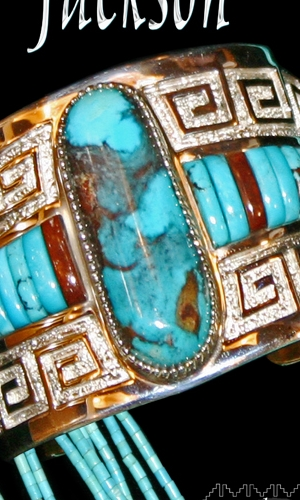 Jackson turquoise and silver bracelet