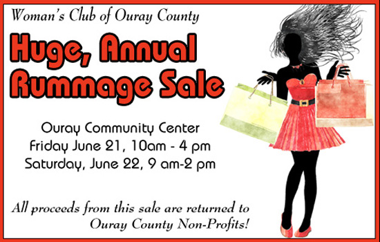 Huge Annual Rummage Sale Title