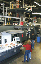 Heidleberg Press Magazine printing
